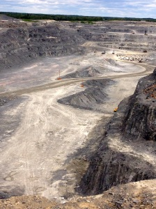 The Canadian Malartic open-pit