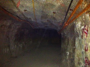 The underground galleries of the Lamaque  gold mine
