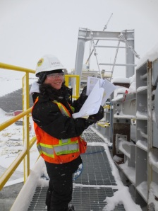 Delphine working onsite in Fermont!