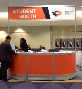 Student booth at the PDAC