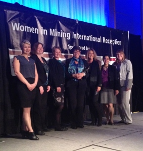 2015 Trailblazer award winner Betty-Ann Heggie accompanied by the WIM Canada Board of Directors