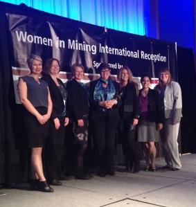 2015 Trailblazer award winner Betty-Ann Heggie accompanied by the WIM Canada Board of Directors
